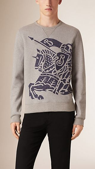 Sweat-shirt réversible en coton et laine