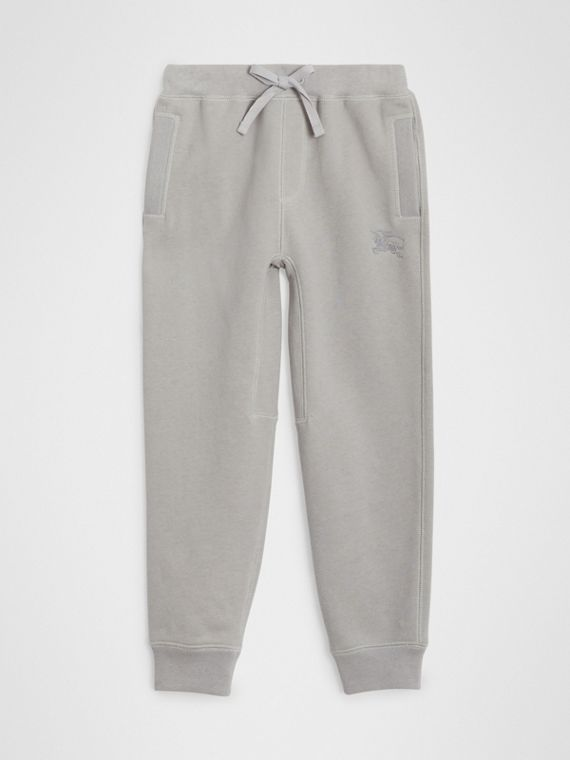 Cotton Jersey Trackpants in Chalk Grey Melange