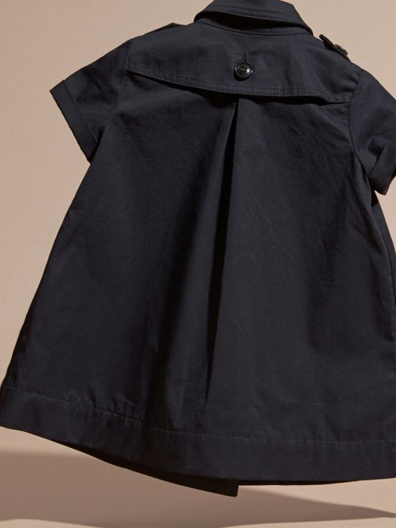 Navy Cotton Trench Dress Navy - cell image 3