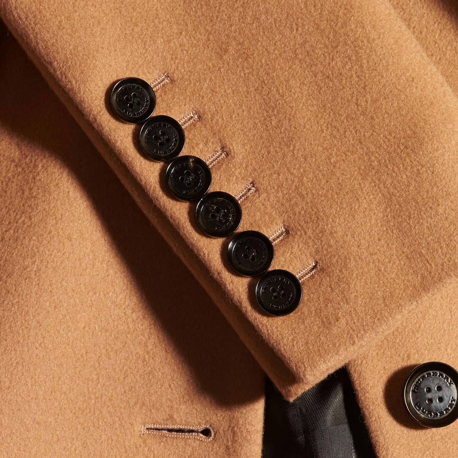 Wool Cashmere Tailored Coat in Camel - gallery image 2