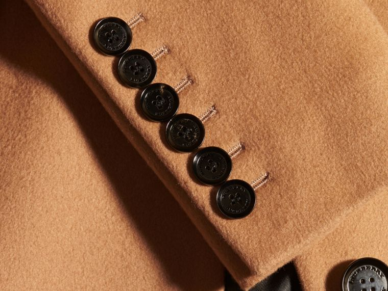 Wool Cashmere Tailored Coat in Camel - cell image 1