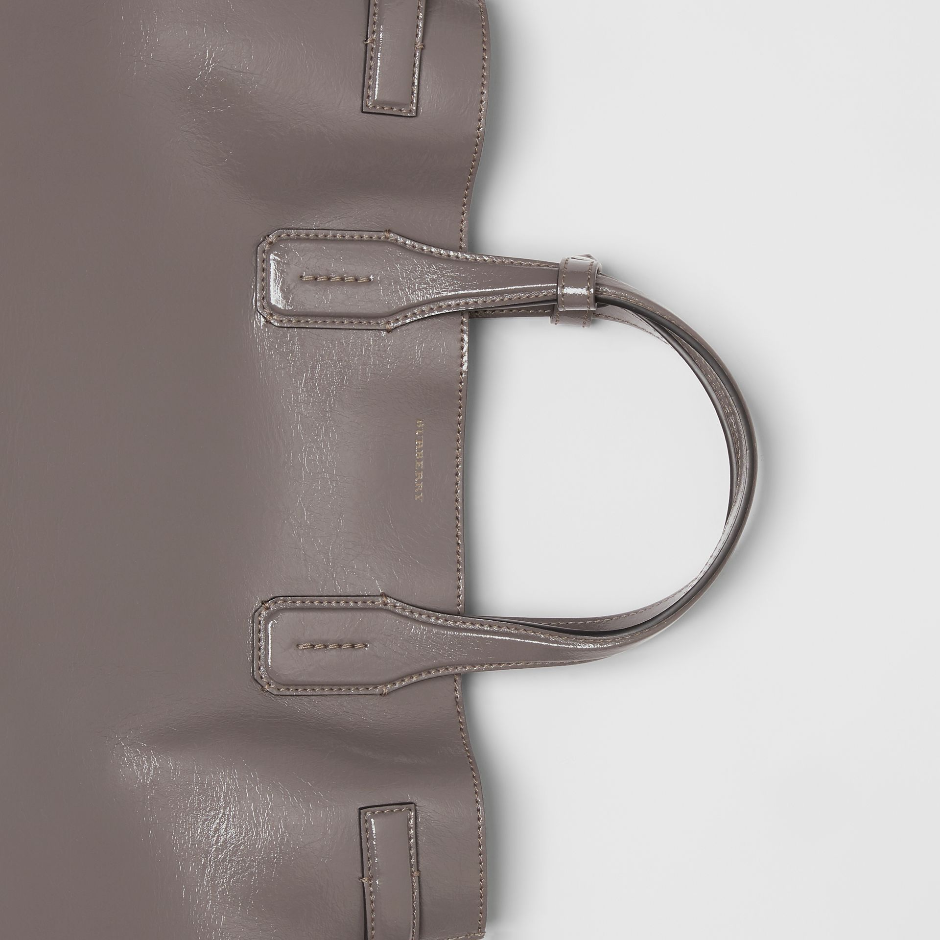 The Medium Soft Leather Banner in Sepia Grey - Women | Burberry United Kingdom - gallery image 1