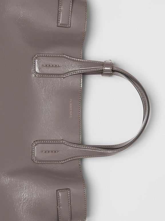 The Medium Soft Leather Banner in Sepia Grey - Women | Burberry United Kingdom - cell image 1