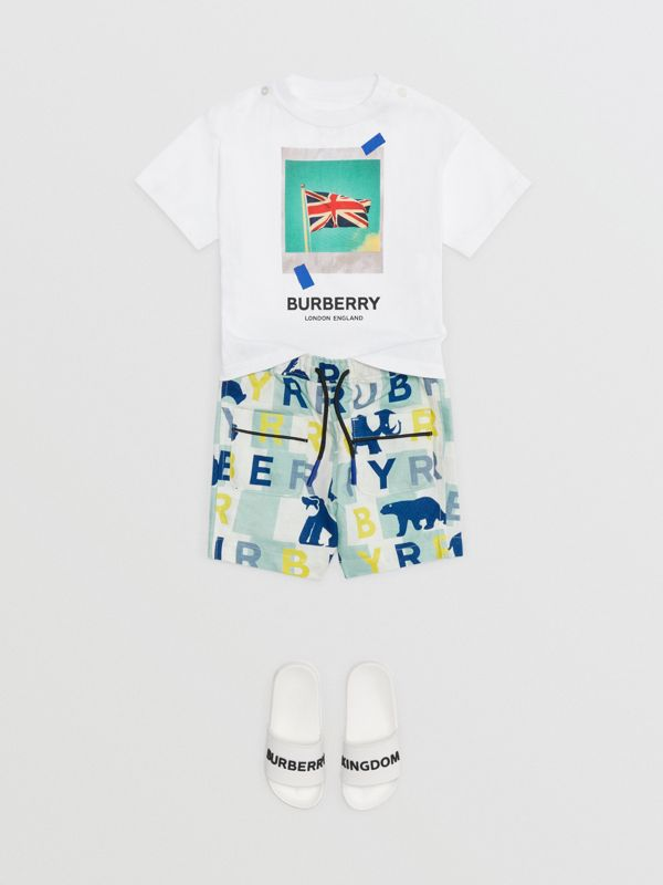 Polaroid Print Cotton T-shirt in White - Children | Burberry Australia - cell image 2