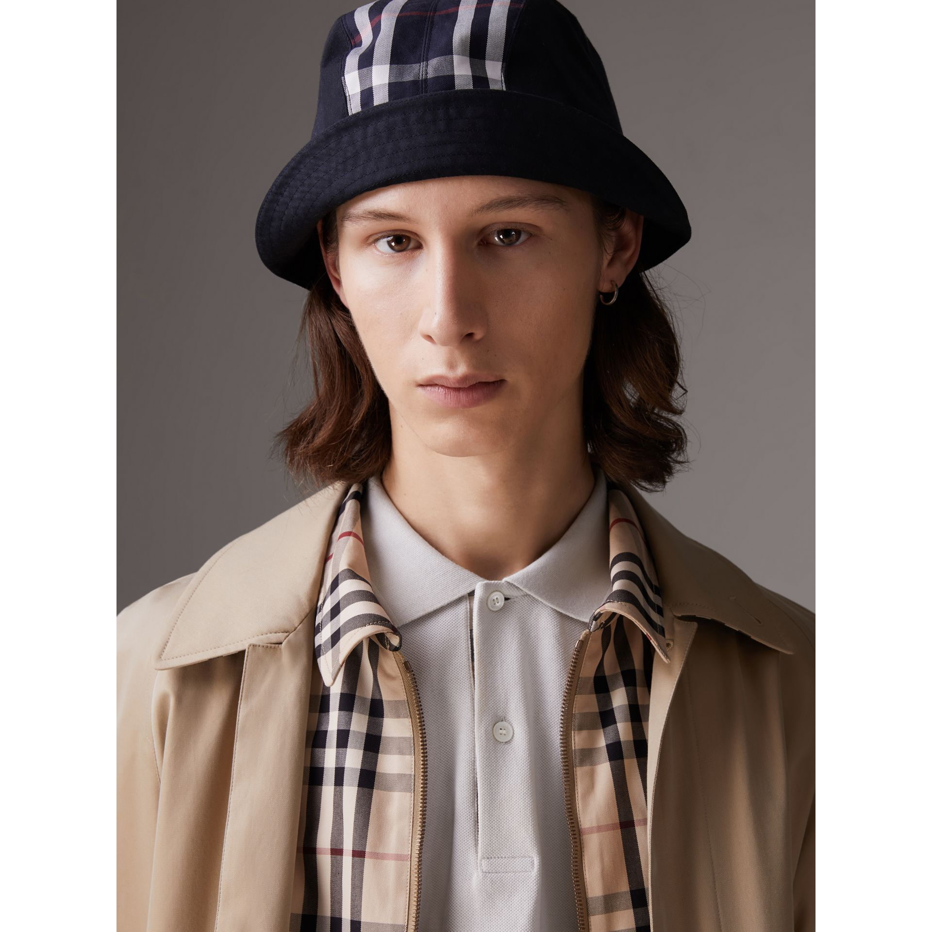 Gosha x Burberry Bucket Hat in Navy | Burberry United Kingdom - gallery image 2