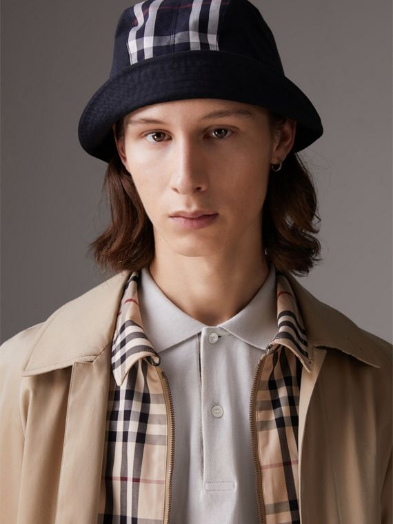 Gosha x Burberry Bucket Hat in Navy | Burberry Hong Kong - cell image 2