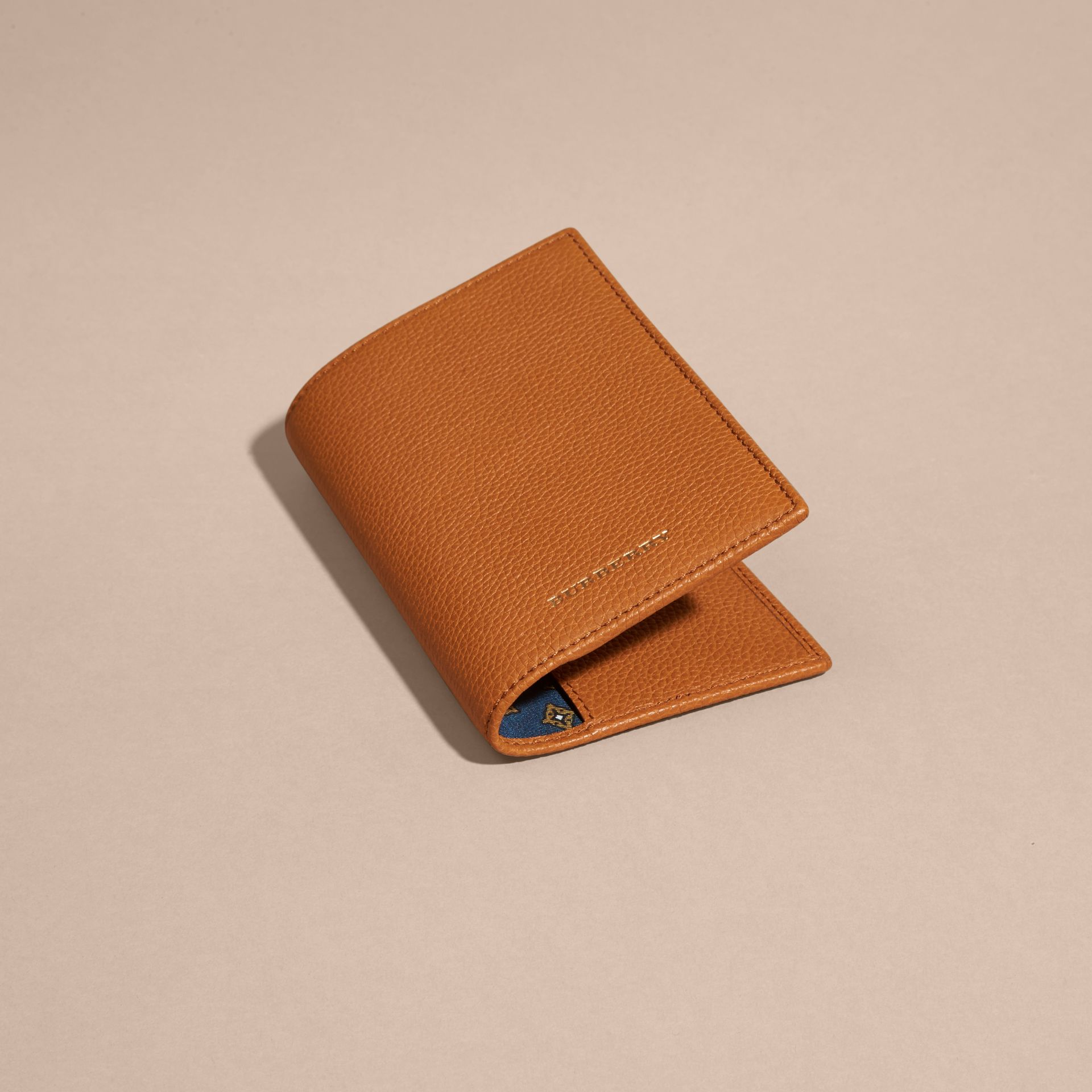 Light toffee Grainy Leather Passport and Card Holder Light Toffee - gallery image 3
