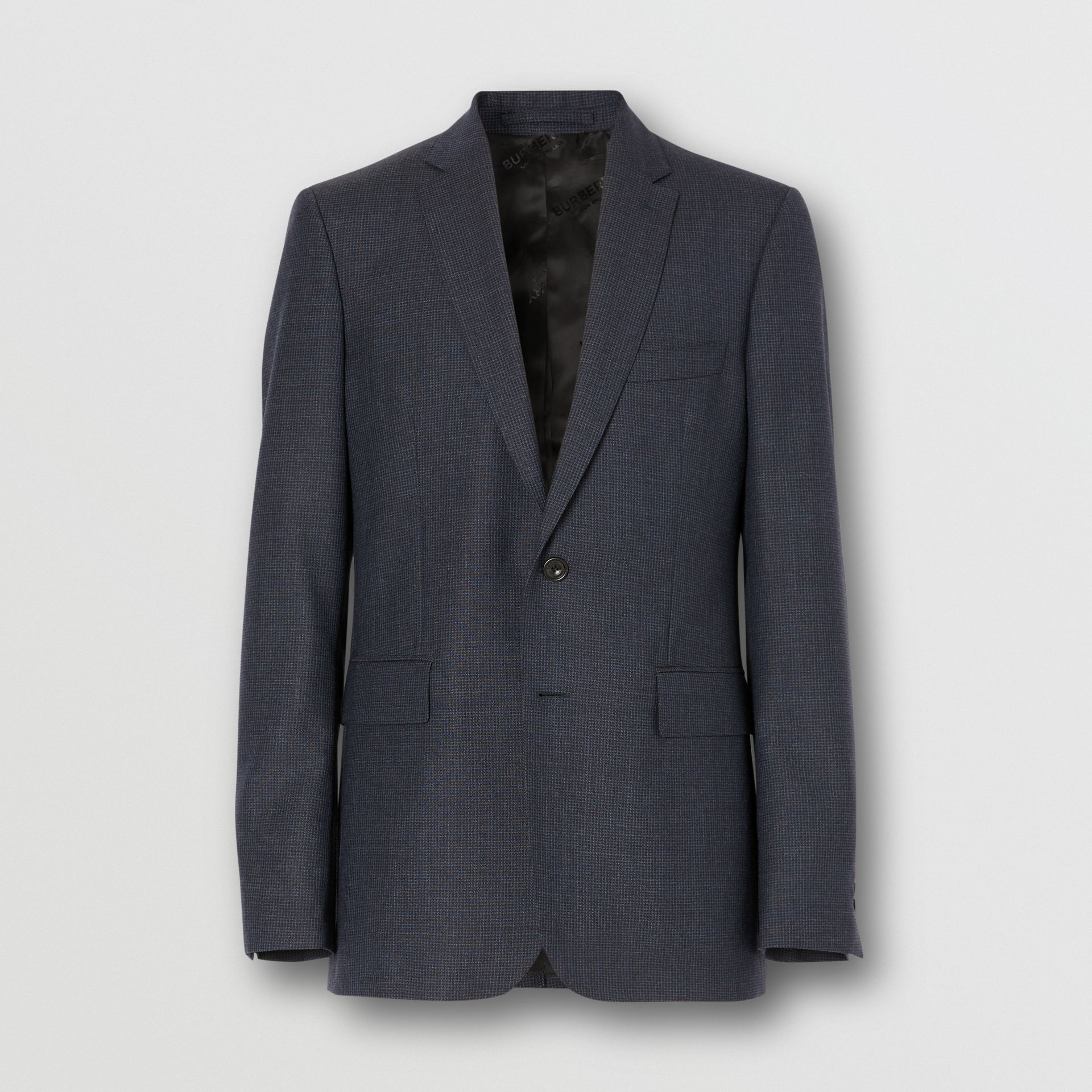 Slim Fit Wool Suit in Navy - Men | Burberry - gallery image 3