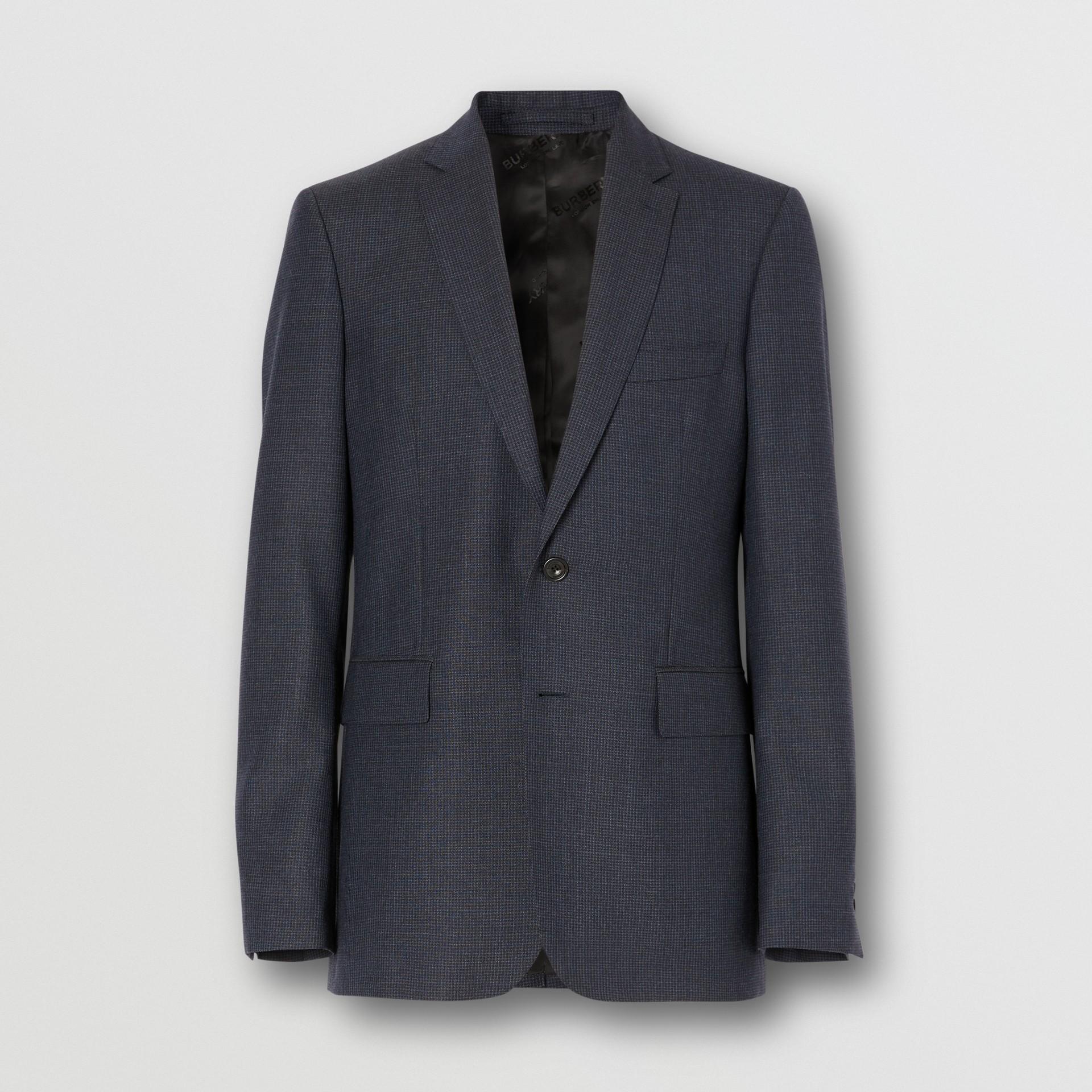 Slim Fit Wool Suit in Navy - Men | Burberry Australia - gallery image 3