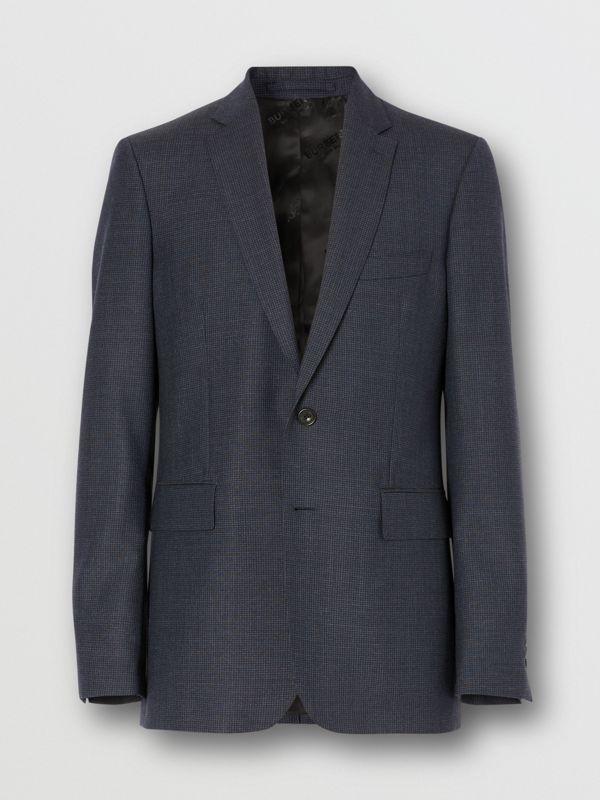 Slim Fit Wool Suit in Navy - Men | Burberry - cell image 3