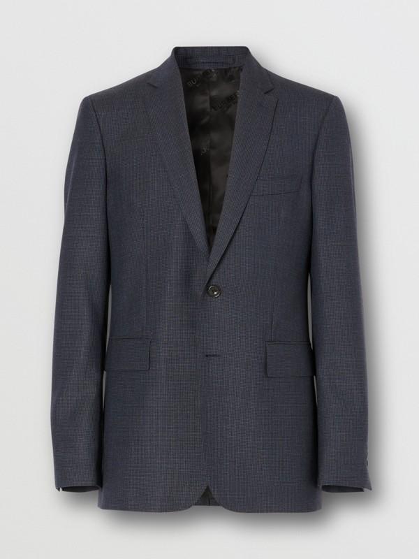 Slim Fit Wool Suit in Navy - Men | Burberry Australia - cell image 3
