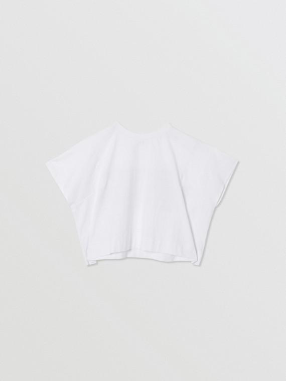 Haut en coton avec coordonnées géographiques (Blanc)