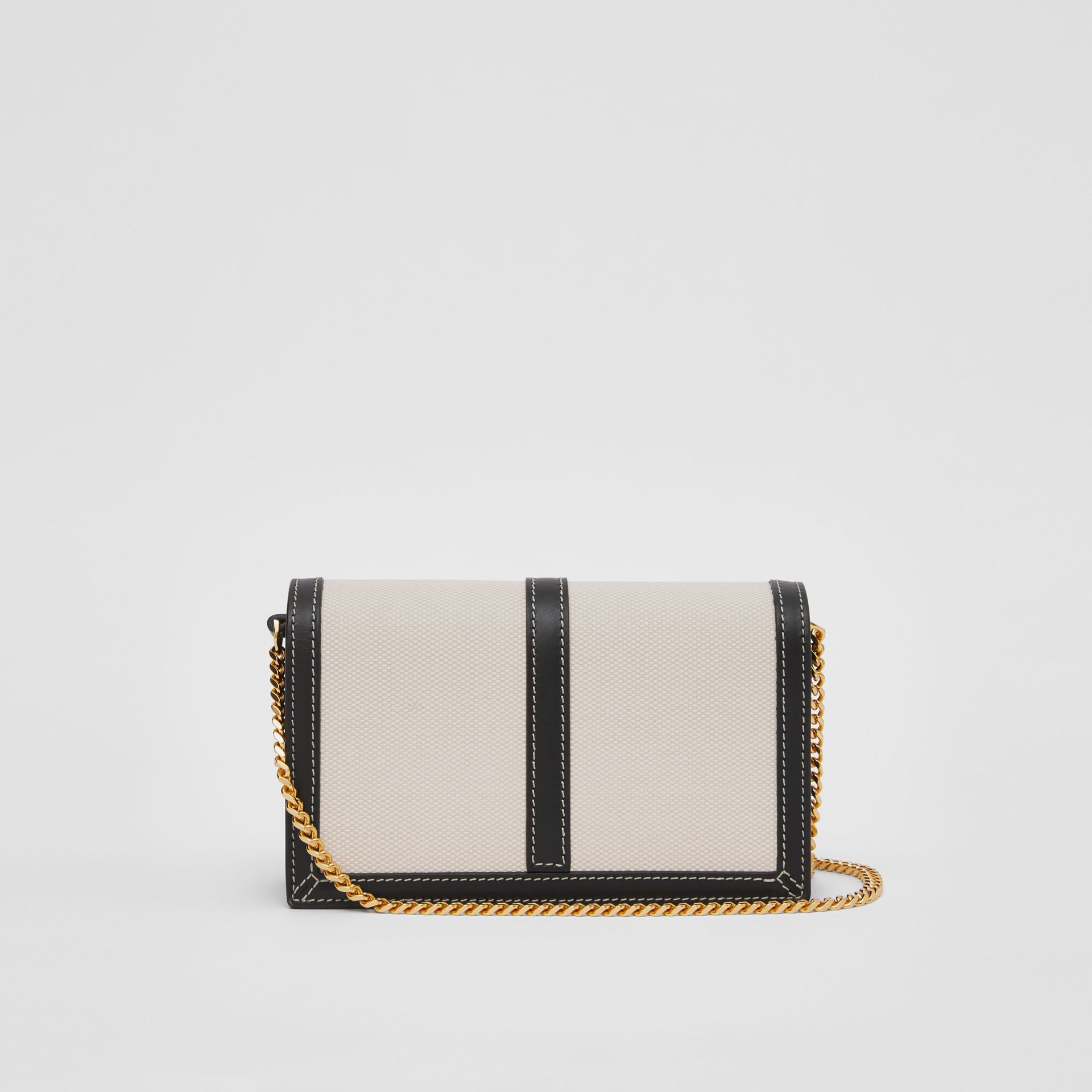 Mini Canvas and Leather TB Envelope Clutch in Tan - Women | Burberry - gallery image 5