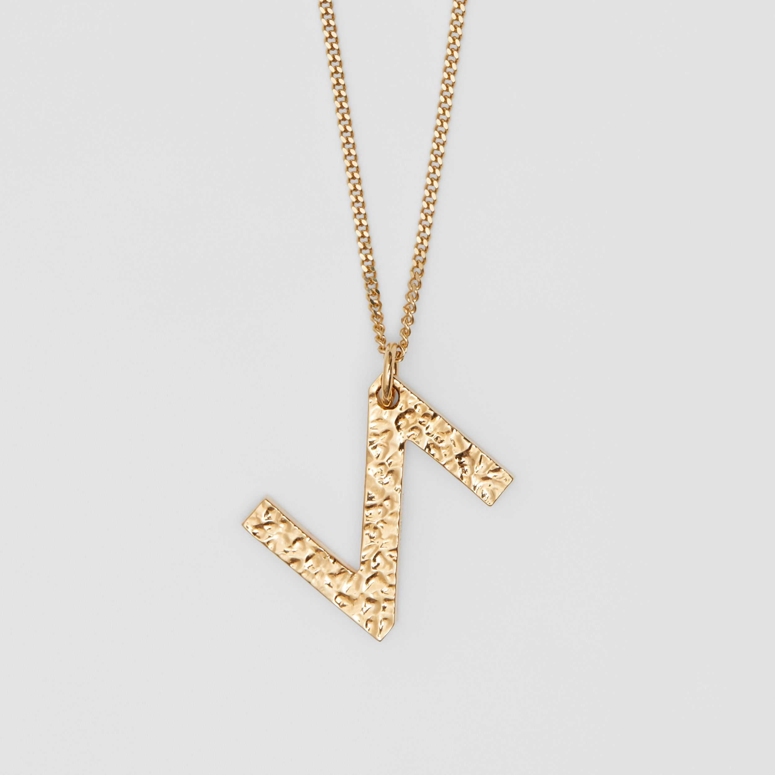 'Z' Alphabet Charm Gold-plated Necklace in Light - Women | Burberry - 3