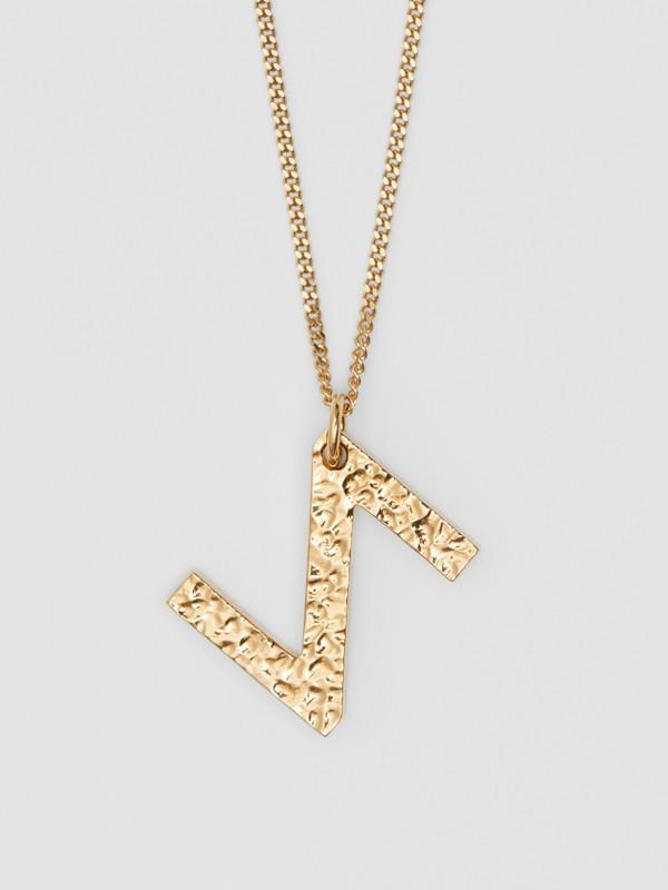 Collana con ciondolo a forma di Z in metallo placcato oro (Chiaro) - Donna   Burberry - cell image 2