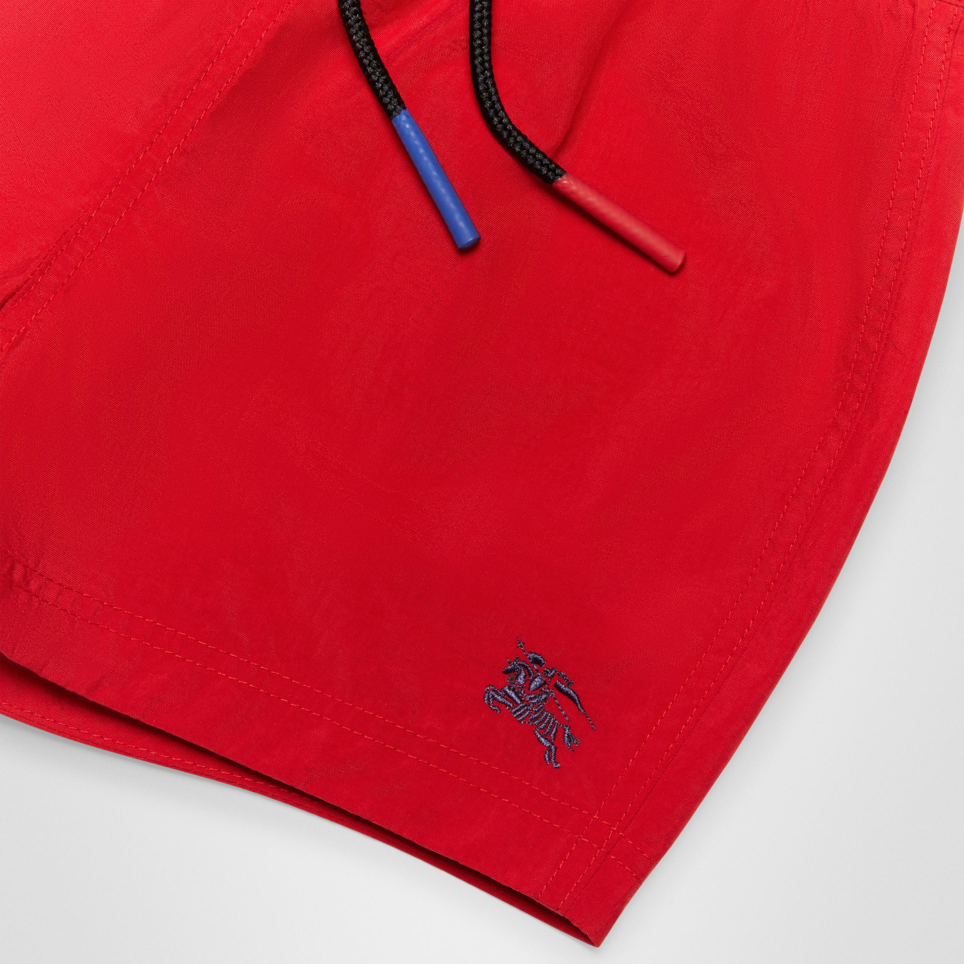 Drawcord Swim Shorts in Military Red - Children | Burberry - gallery image 1