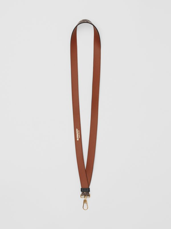 Monogram Print E-canvas and Leather Lanyard in Bridle Brown - Men | Burberry Hong Kong S.A.R - cell image 3