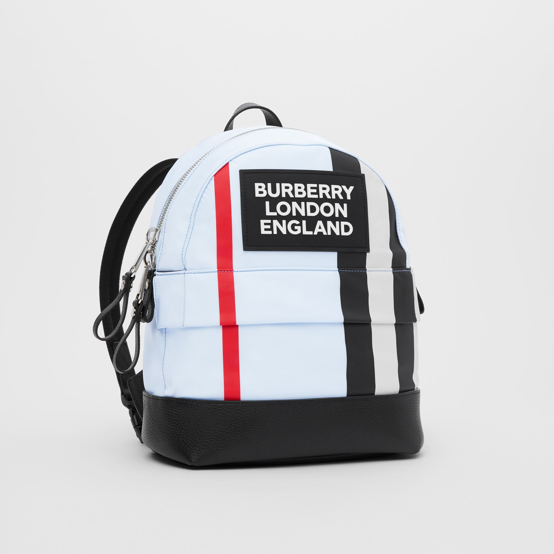Logo Appliqué Icon Stripe ECONYL® Backpack in Pale Blue - Children | Burberry United States - gallery image 4