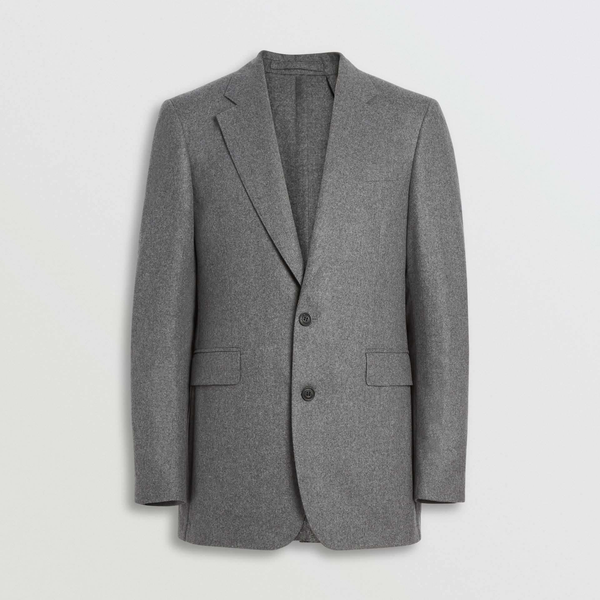 Classic Fit Wool Cashmere Tailored Jacket in Mid Grey Melange - Men | Burberry - gallery image 3