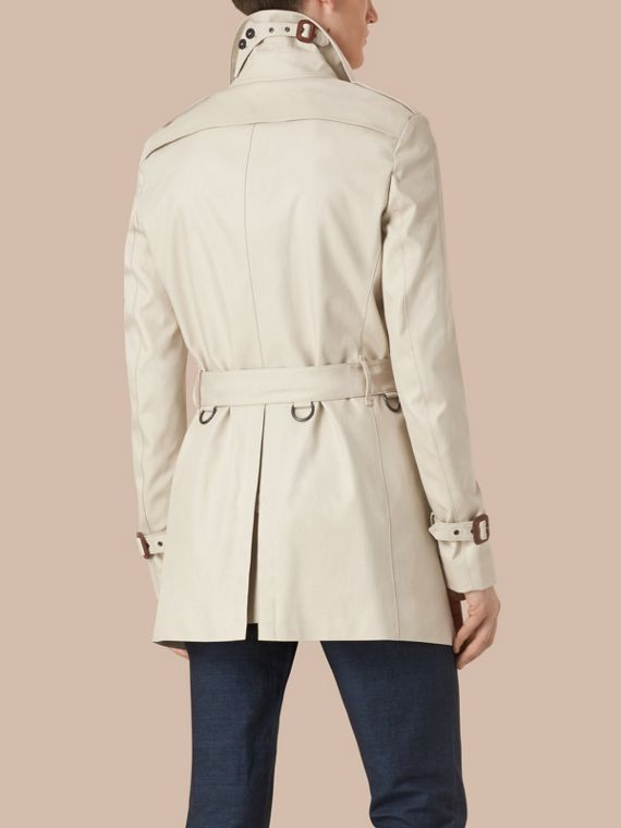 Stone Cotton Gabardine Trench Coat - cell image 3