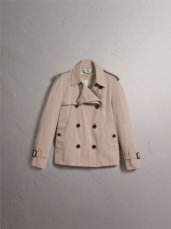 Unisex Tropical Gabardine Trench Jacket in Light Taupe - Men | Burberry - cell image 3