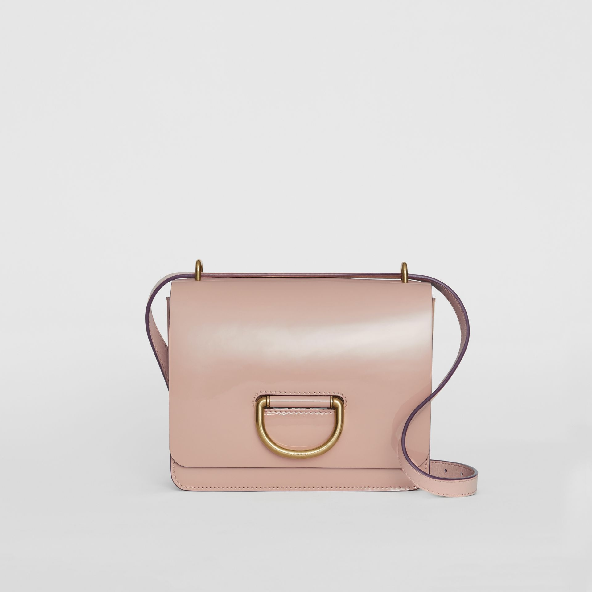 The Small Patent Leather D-ring Bag in Pale Fawn Pink - Women | Burberry United Kingdom - gallery image 0
