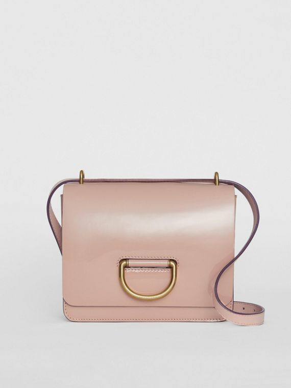 The Small Patent Leather D-ring Bag in Pale Fawn Pink