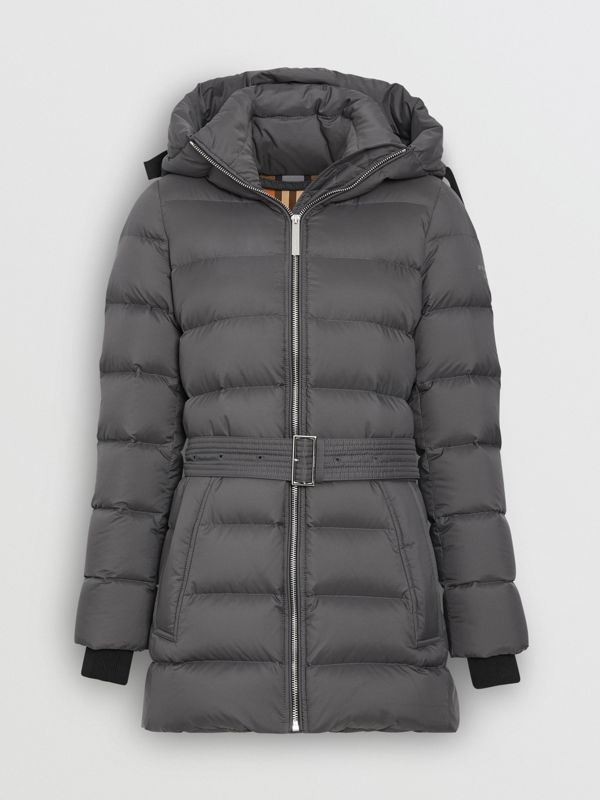 Down-filled Hooded Puffer Coat in Mid Grey - Women | Burberry United States - cell image 3