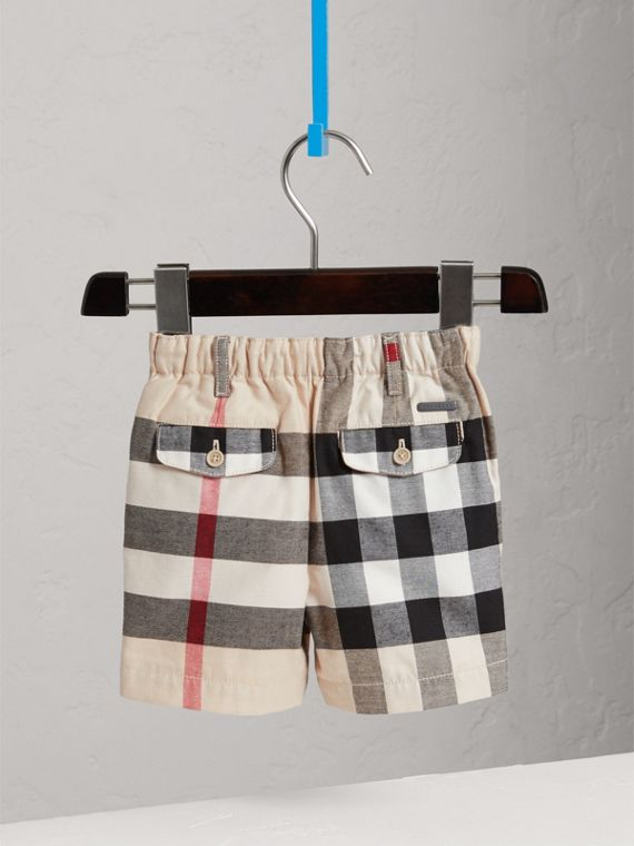 Check Cotton Chino Shorts in Stone | Burberry United States - cell image 3