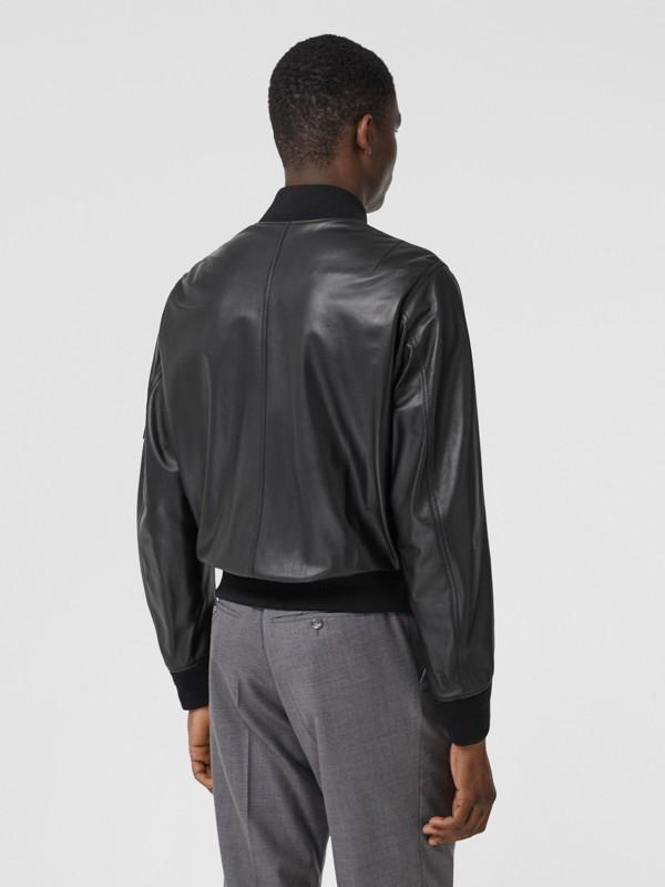 Lambskin Bomber Jacket in Black - Men | Burberry - cell image 2