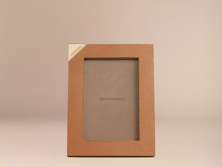 Tan Small Grainy Leather Picture Frame - cell image 1