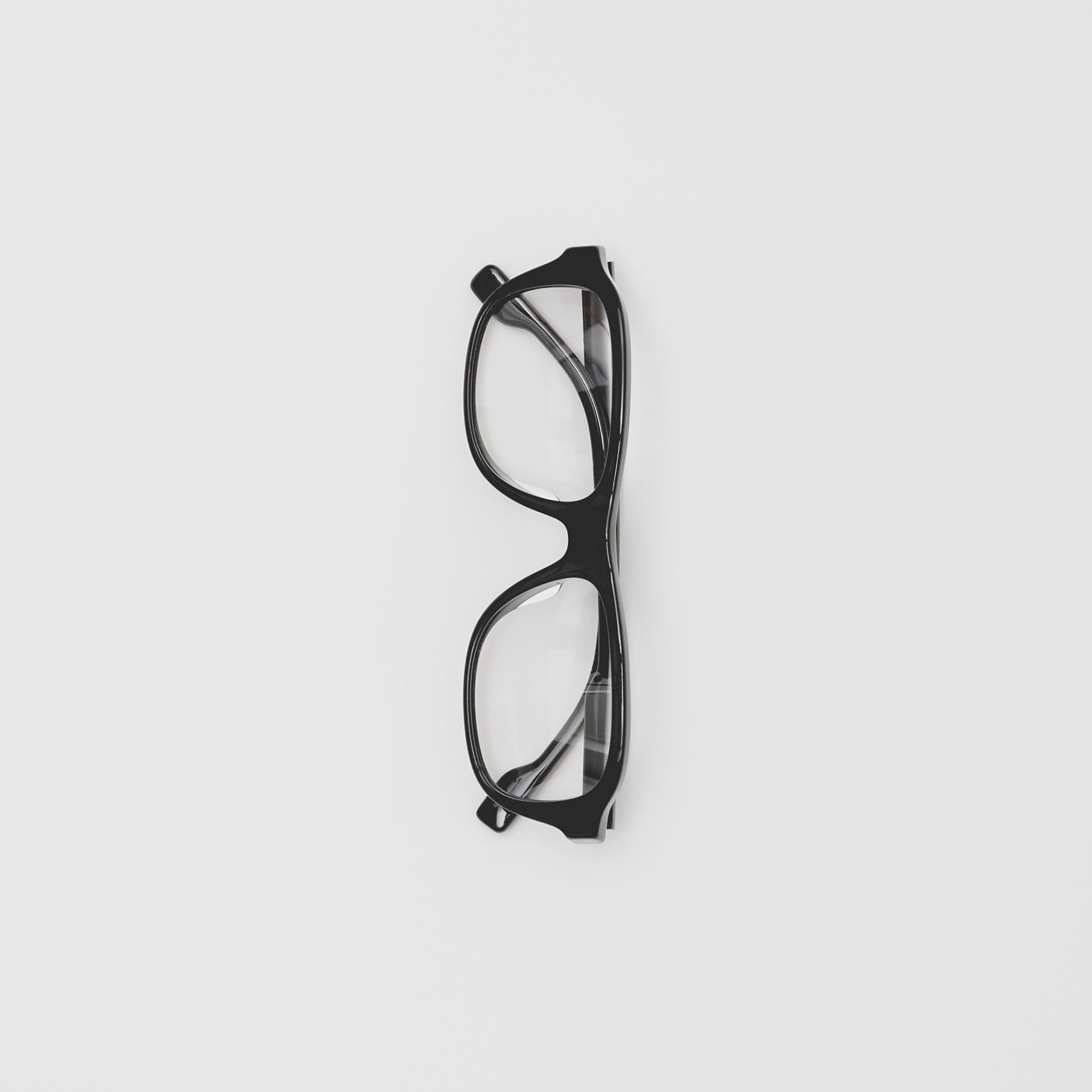 Rectangular Optical Frames in Black - Men | Burberry United Kingdom - gallery image 3