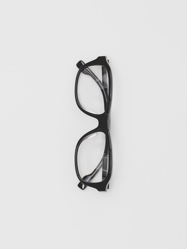 Rectangular Optical Frames in Black - Men | Burberry United Kingdom - cell image 3