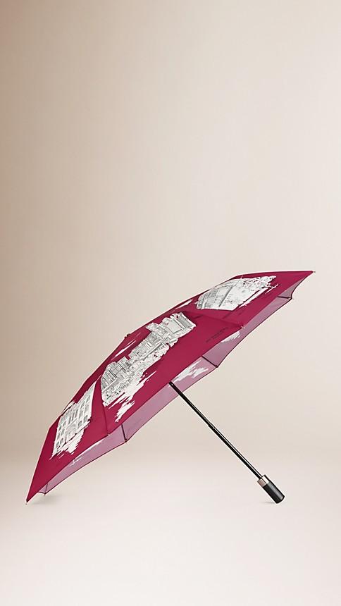 Cherry pink Hong Kong Landmarks Folding Umbrella - Image 1