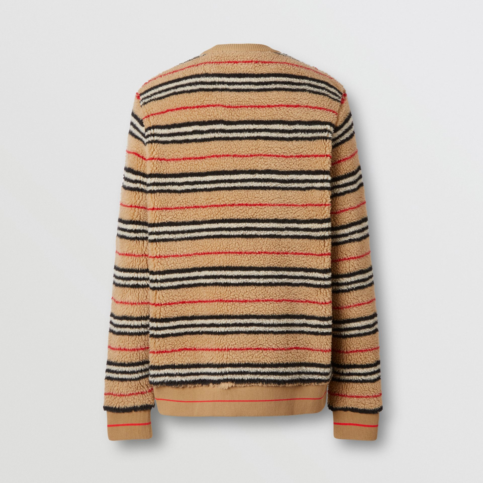 Icon Stripe Fleece Sweatshirt in Archive Beige - Men | Burberry United States - gallery image 5