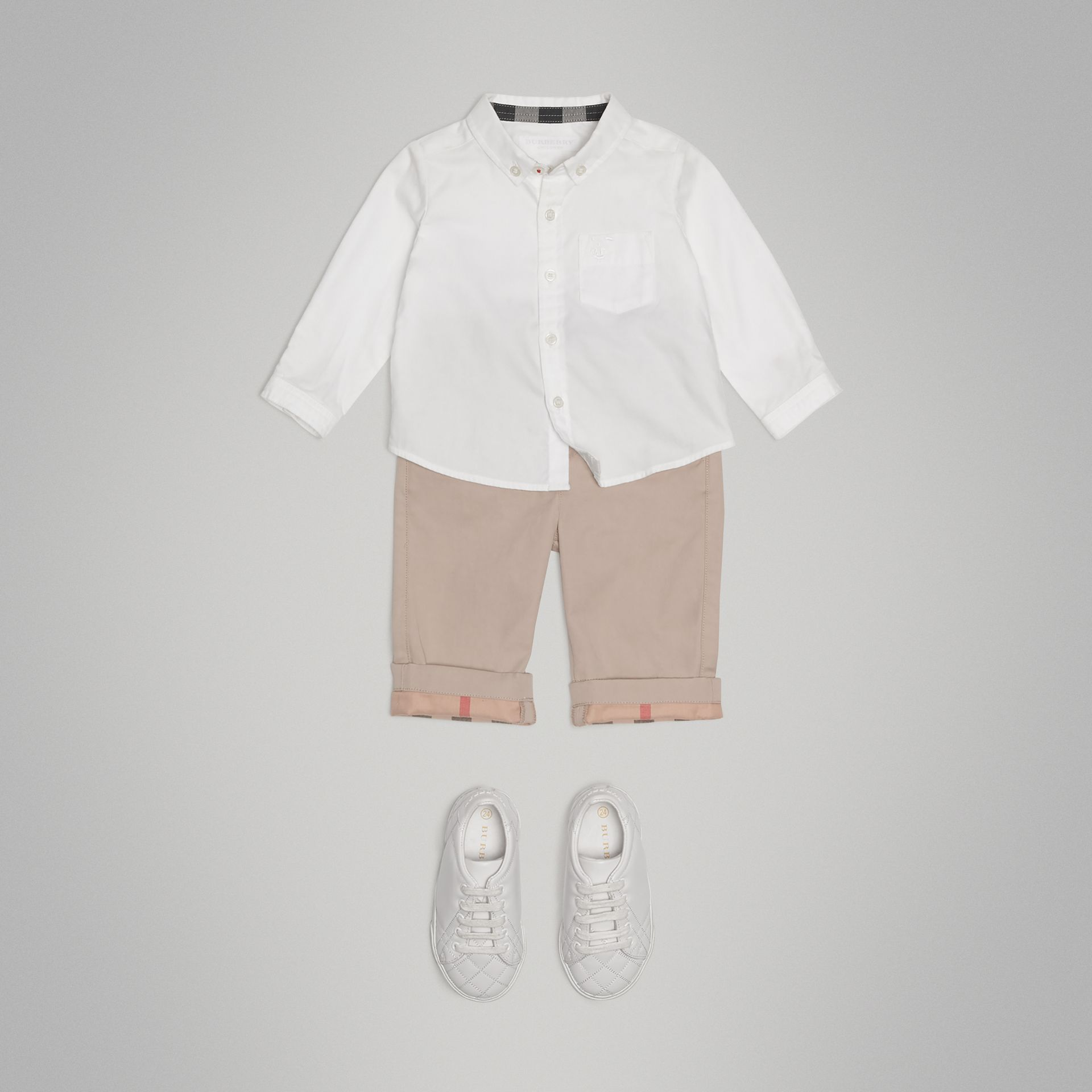 Cotton Oxford Shirt in White - Boy | Burberry Australia - gallery image 2