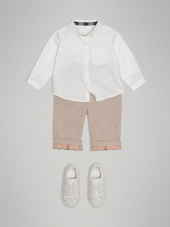 Cotton Oxford Shirt in White - Boy | Burberry Australia - cell image 2