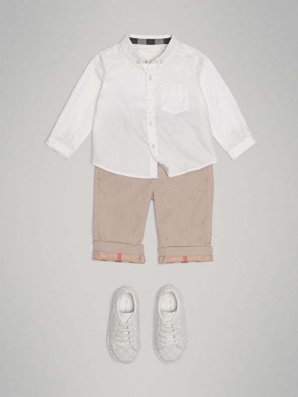 Cotton Oxford Shirt in White | Burberry - cell image 2