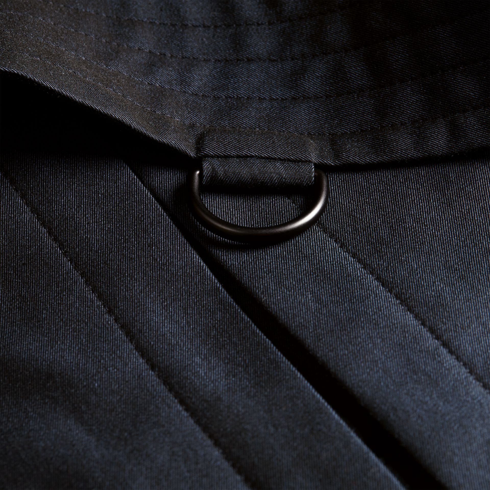 Leather Detail Cotton Gabardine Trench Coat - Men | Burberry - gallery image 2