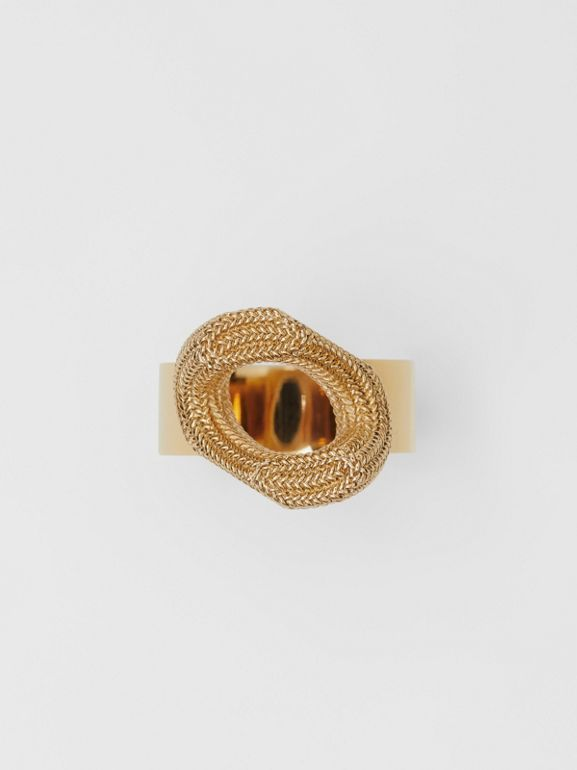 Gold-plated Chain-link Ring in Light - Women | Burberry United Kingdom - cell image 1