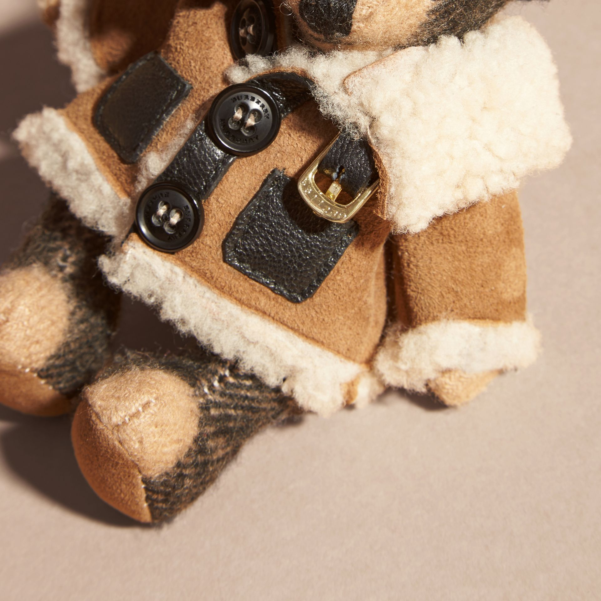 Thomas Bear Charm in Shearling Aviator Jacket - gallery image 4