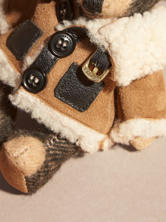 Thomas Bear Charm in Shearling Aviator Jacket - cell image 3
