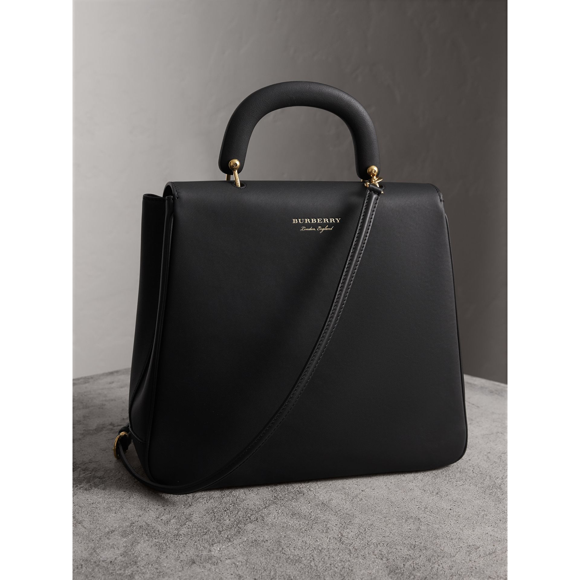 The Large DK88 Top Handle Bag in Black - Women | Burberry - gallery image 4