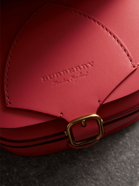 The Satchel in Leather in Bright Peony - Women | Burberry - cell image 1