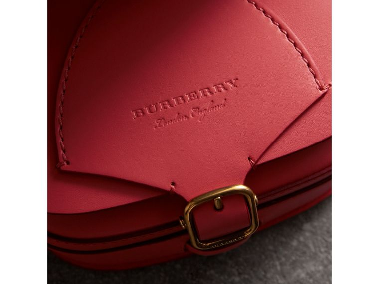 The Satchel in Leather in Bright Peony - Women | Burberry Singapore - cell image 1