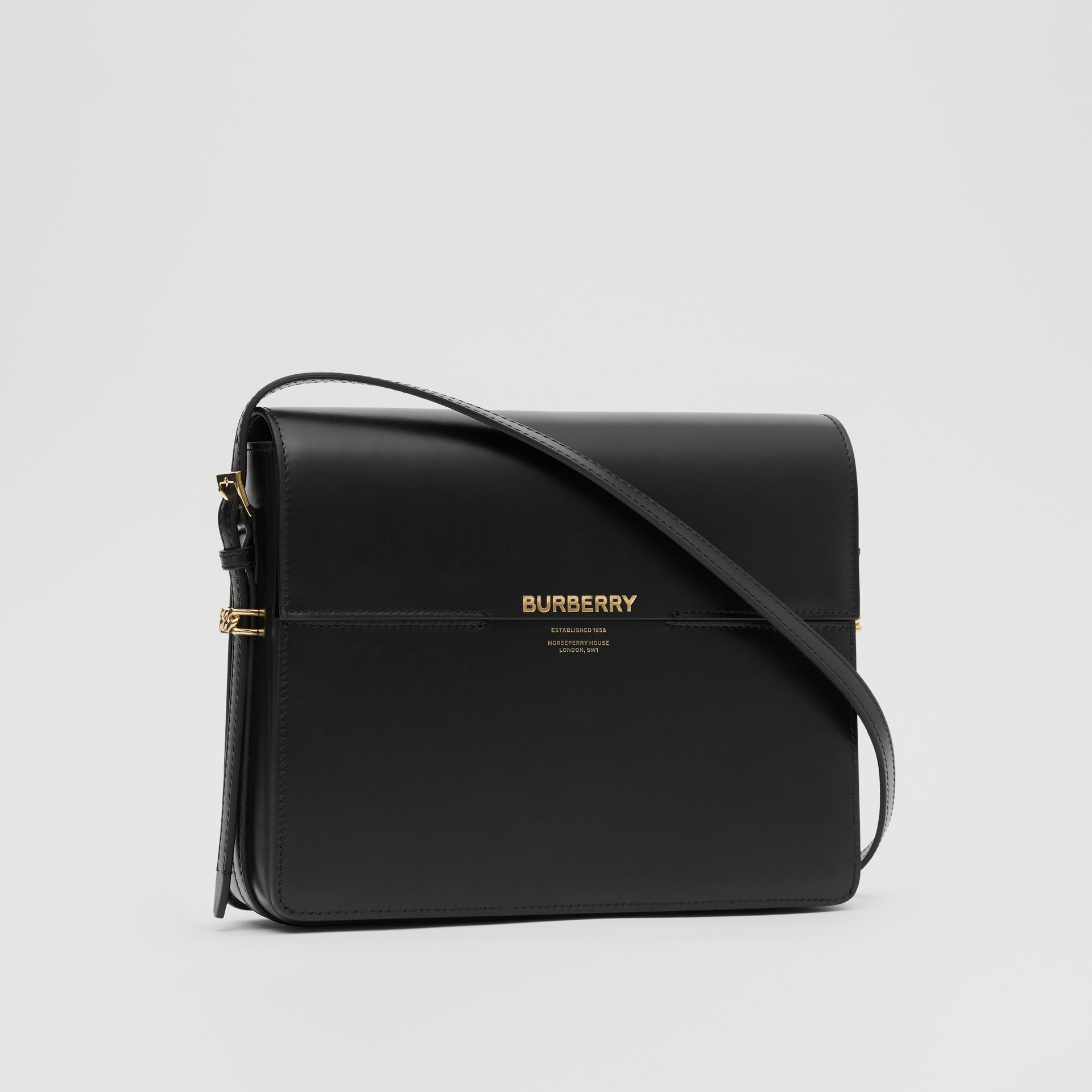 Large Leather Grace Bag in Black - Women | Burberry United Kingdom - gallery image 6