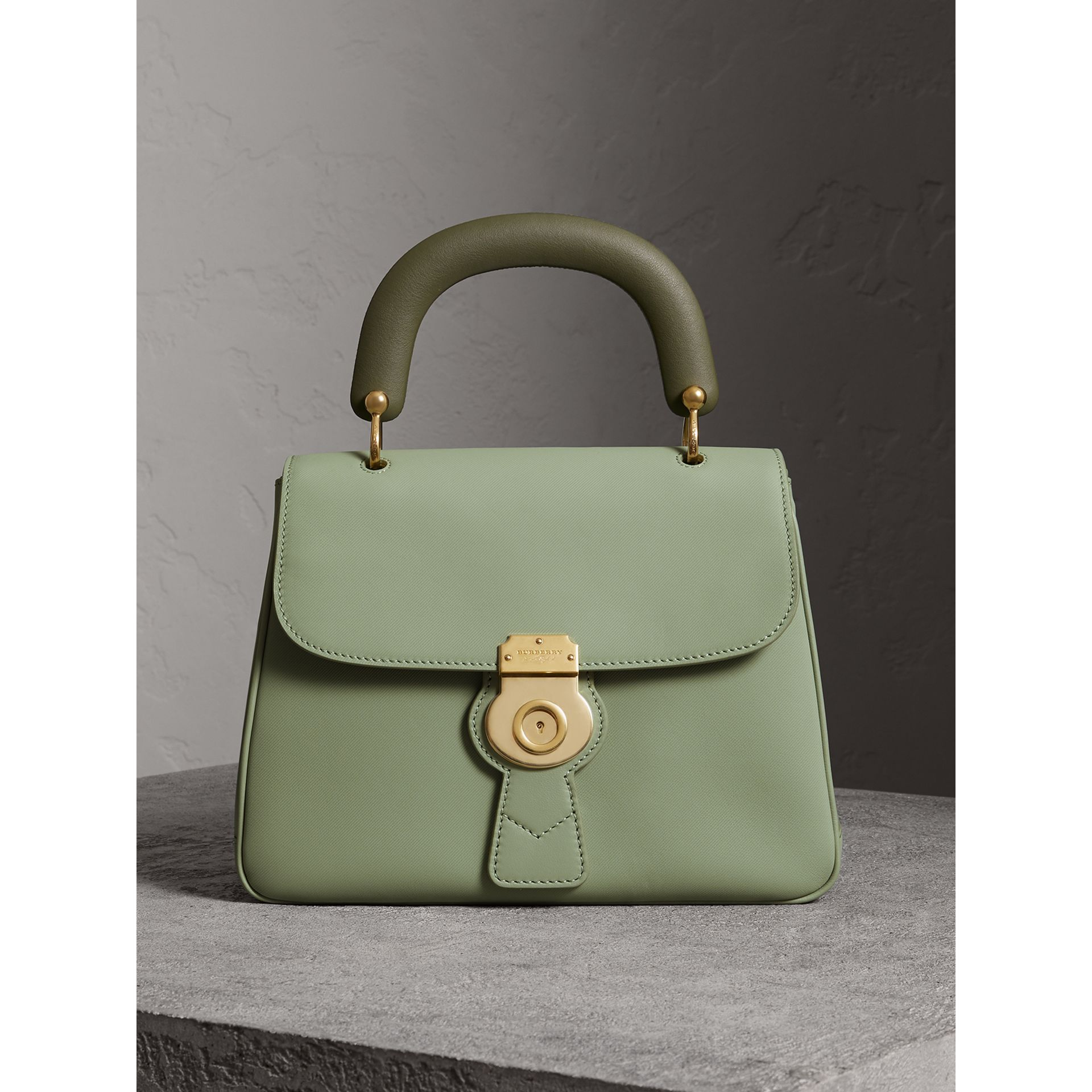 The Medium DK88 Top Handle Bag in Celadon Green - Women | Burberry - gallery image 0