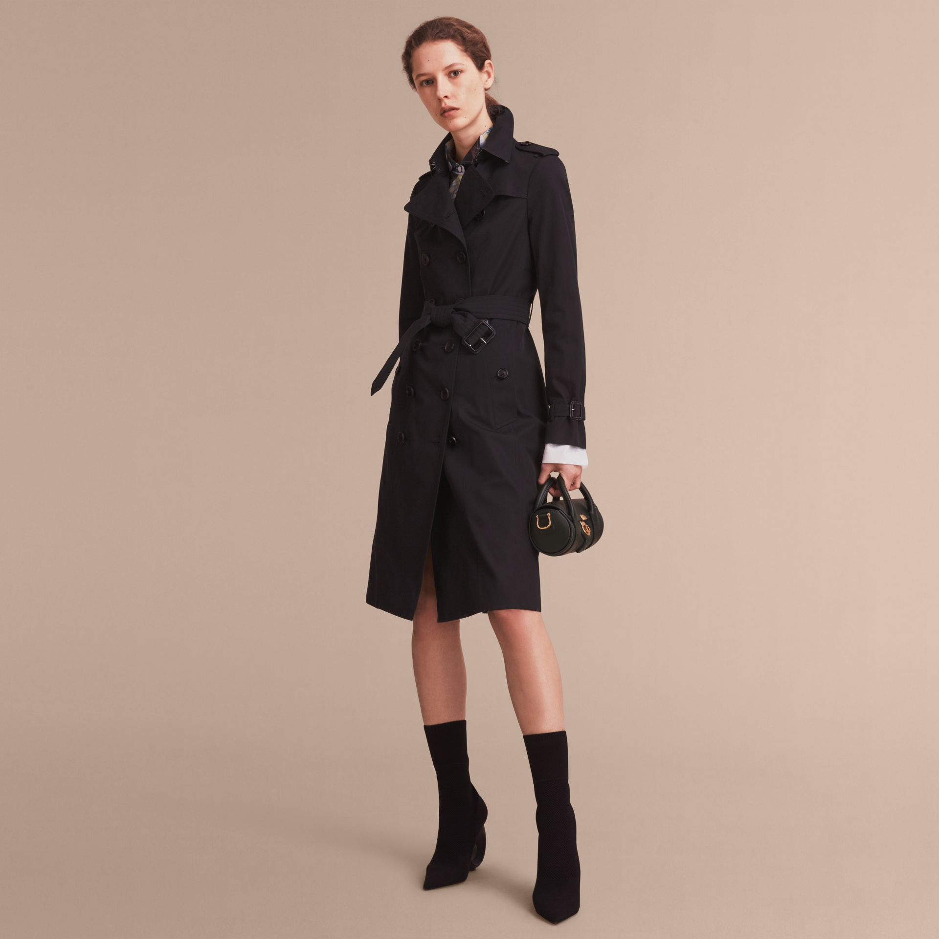 Black The Sandringham – Extra-long Heritage Trench Coat Black - gallery image 8