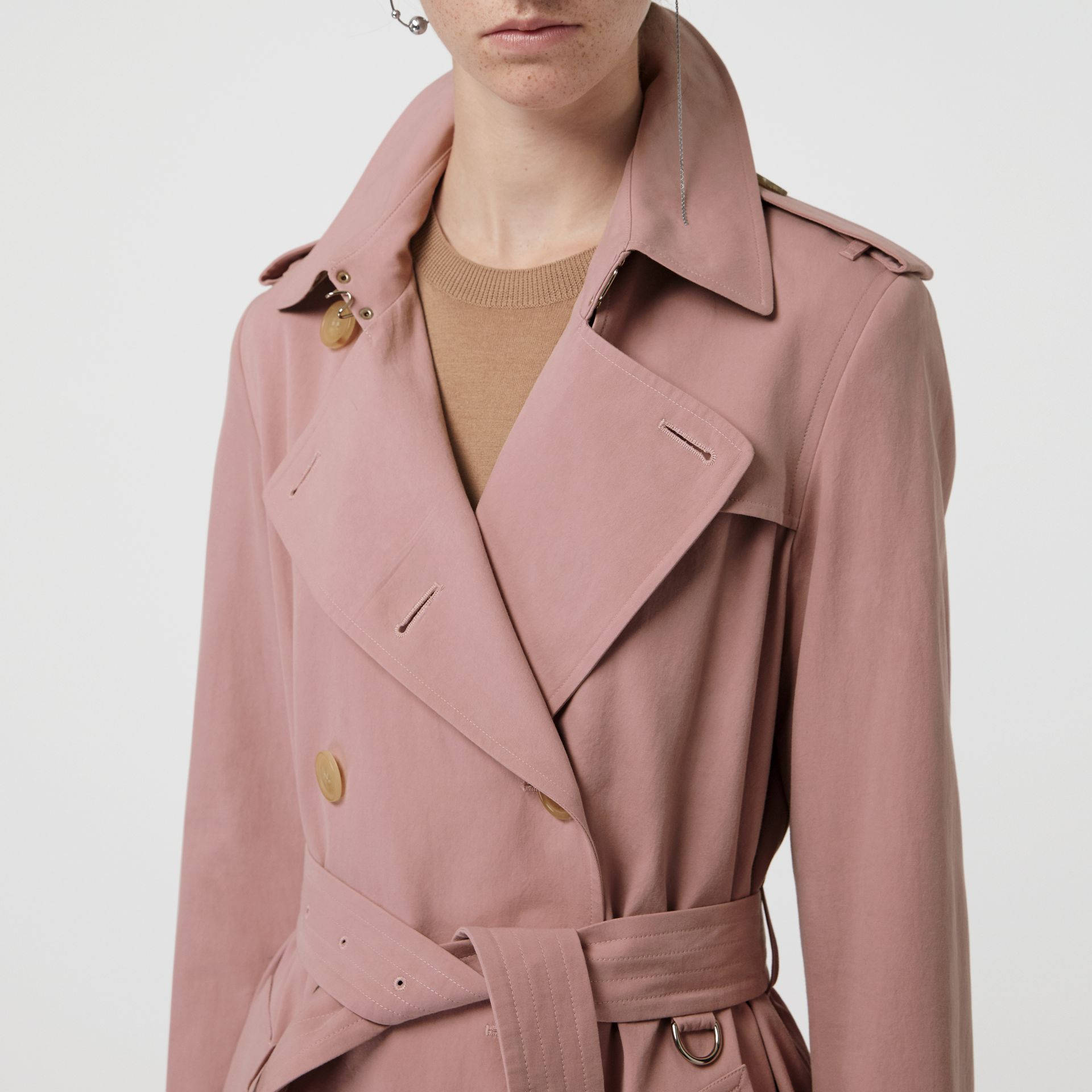 Tropical Gabardine Trench Coat in Chalk Pink - Women | Burberry - gallery image 1