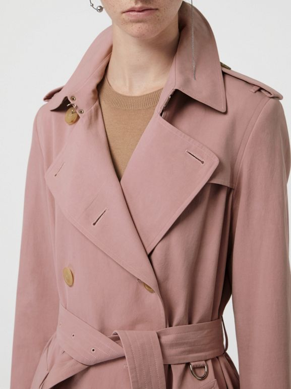 Tropical Gabardine Trench Coat in Chalk Pink - Women | Burberry - cell image 1